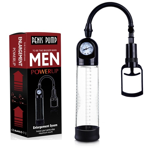 Vibration Penis Pump Man With Accu-Meter Pro